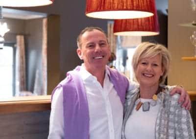 Chefkok Jan en gastvrouw Lucrese van Hotel Restaurant Auberge l'Entrecôte in Kluisbergen