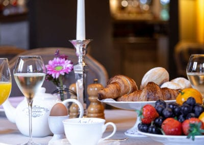 Royaal ontbijten in hotel Auberge 'l Entrecôte in Kluisbergen