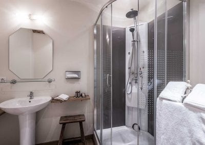 Badkamer in hotel Auberge 'l Entrecôte in Kluisbergen